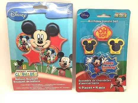 Amazon.com: Disney Mickey Mouse cumpleaños ramo de globos ...