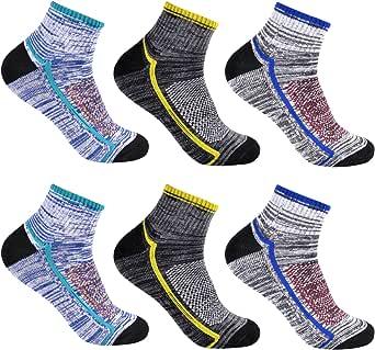 L&K Pack de 6 Calcetines Socks para hombre algodón unisex invierno 2104