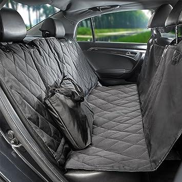 758c6d9fa65ca5 Amazon.com : Pauraque Pet Car Seat Cover - for Cars Trucks and Suv's, Dog  Car Seat Cover, Hammock Convertible, Black, WaterProof & NonSlip Backing :  Pet ...