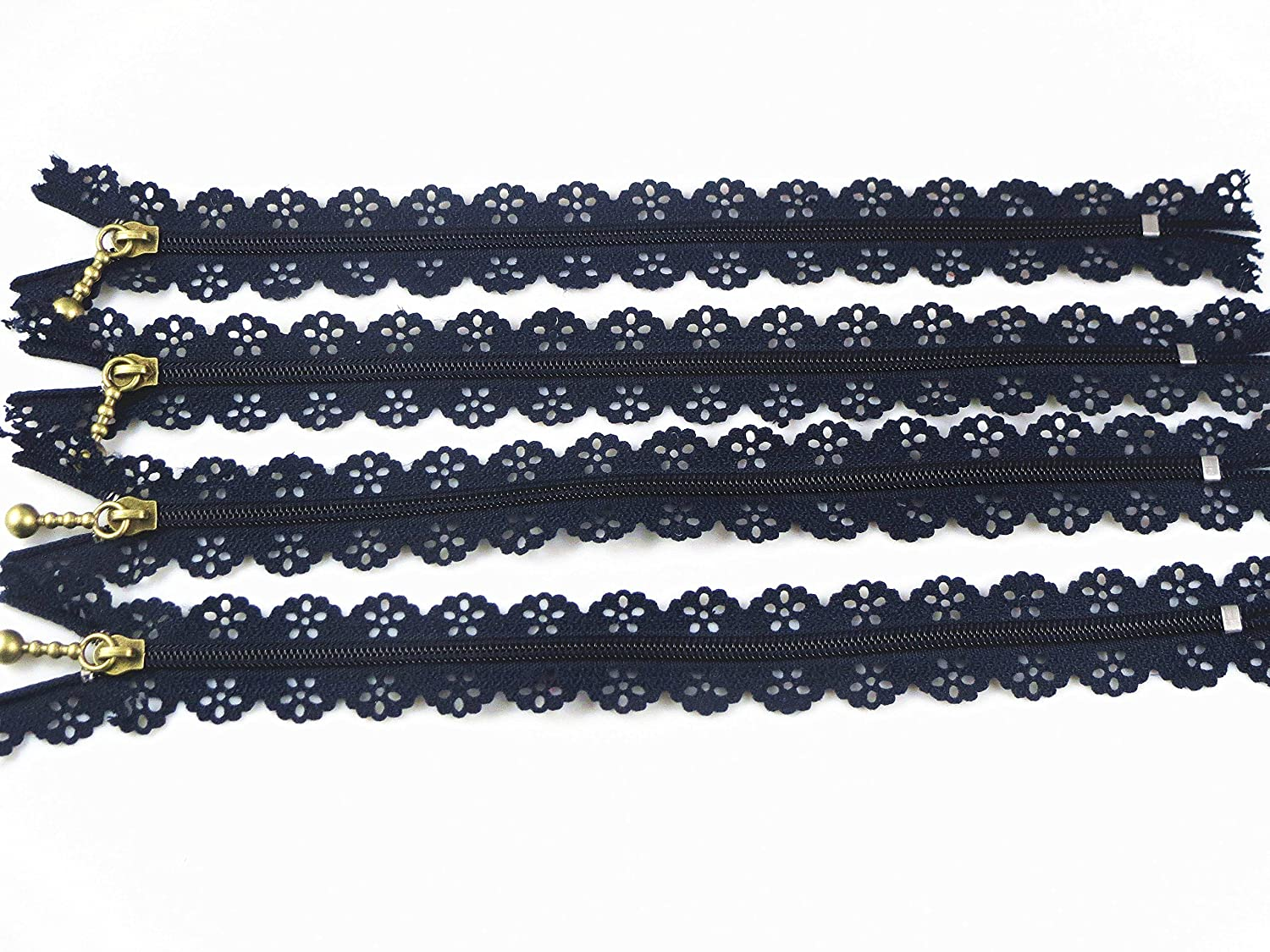 YAKA Quality Novelty Full Length 24cm 9 inch DIY Nylon Coil Flower Zipper Lace Zippers for DIY Sewing Tailor Craft Bed Bag, 24 Pcs (Mix) 4337006913