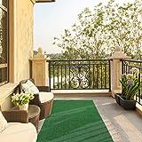 """Ottomanson Garden Grass Artificial Turf Area Rug, 3'11""""X6'6"""", Green"""