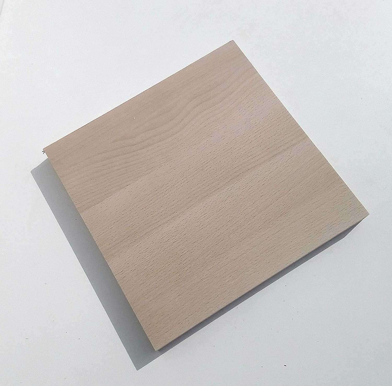 1 Massivholzplatte Buche 29mm stark 300x300x29mm stark. Holzplatte Bretter Leisten Sonderma/ße.
