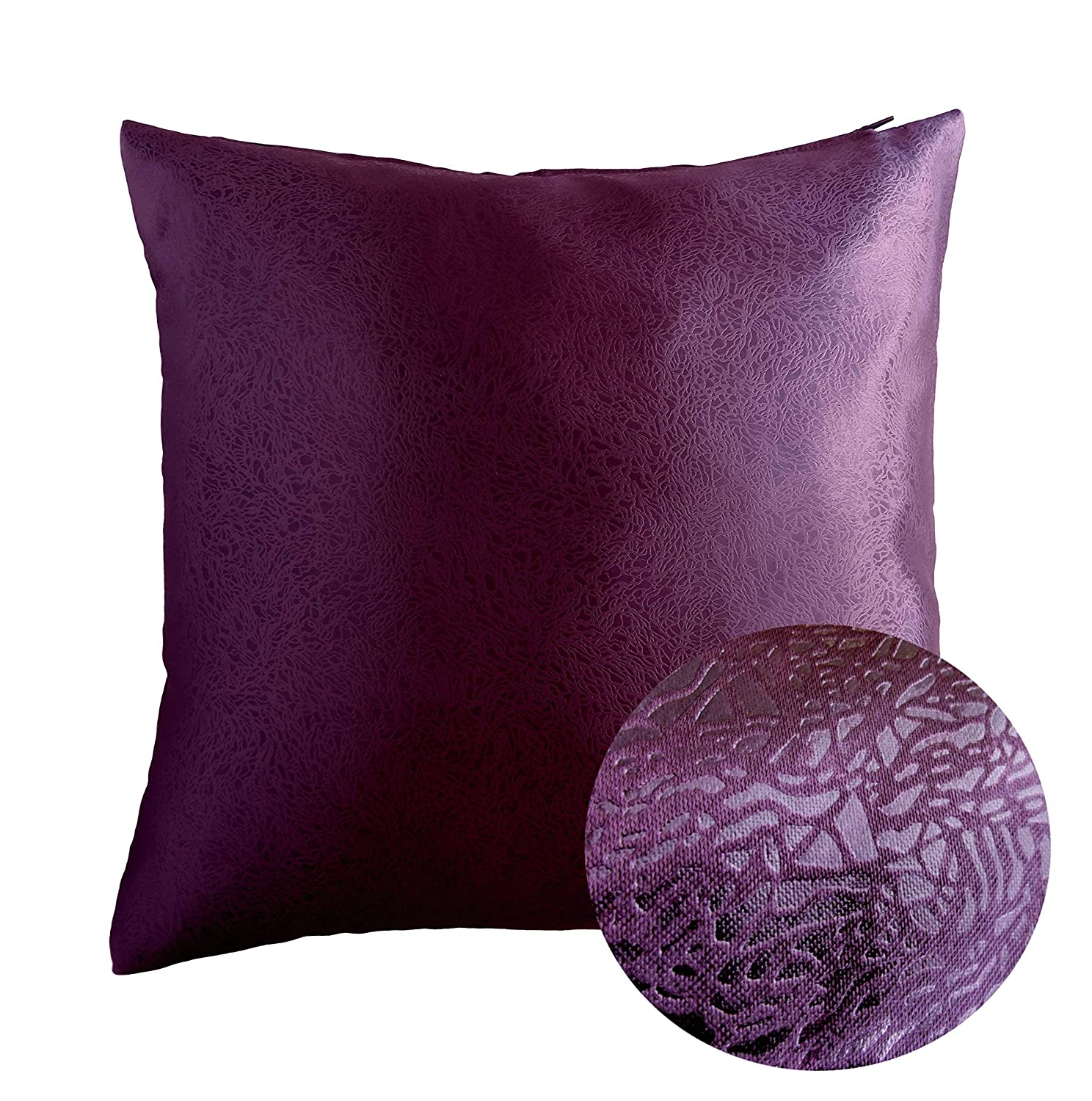 Deep Purple Decorative Throw Pillows 17/""