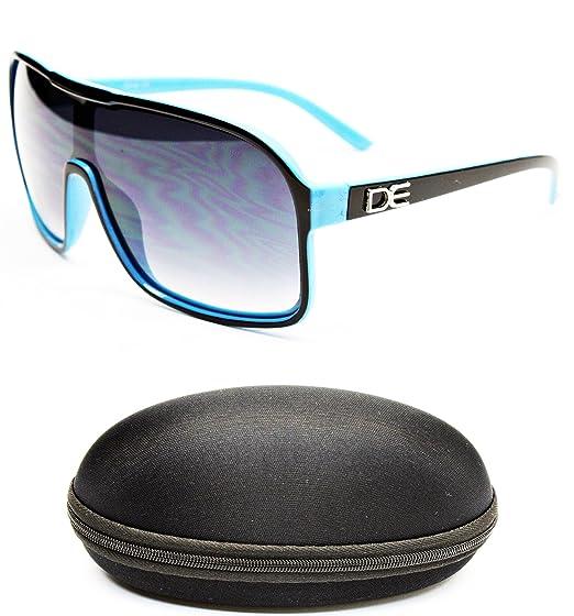 d891226d5533 D676-CC Designer Eyewear Turbo Aviator Sunglasses (5039 Black Light Blue