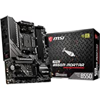 msi MAG B550M Mortar Gaming Motherboard AM4 M-ATX MB 4xDDR4 4xPCIE 2xM.2 DP HDMI RAID LAN 6xSATAIII 2xUSB3.2 6xUSB2.0…