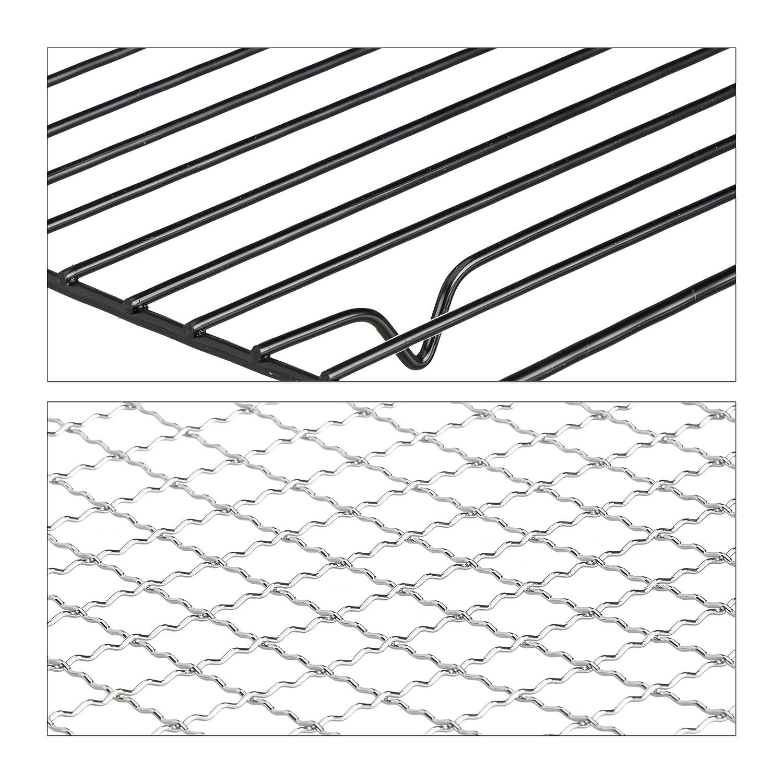 Relaxdays Barbacoa Portátil Plegable Rectangular, Negro, 20 x 41 x 27 cm: Amazon.es: Jardín