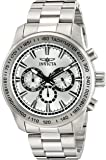 Invicta Men's 'Speedway' Quartz Stainless Steel Watch, Color:Silver-Toned (Model: 21794)