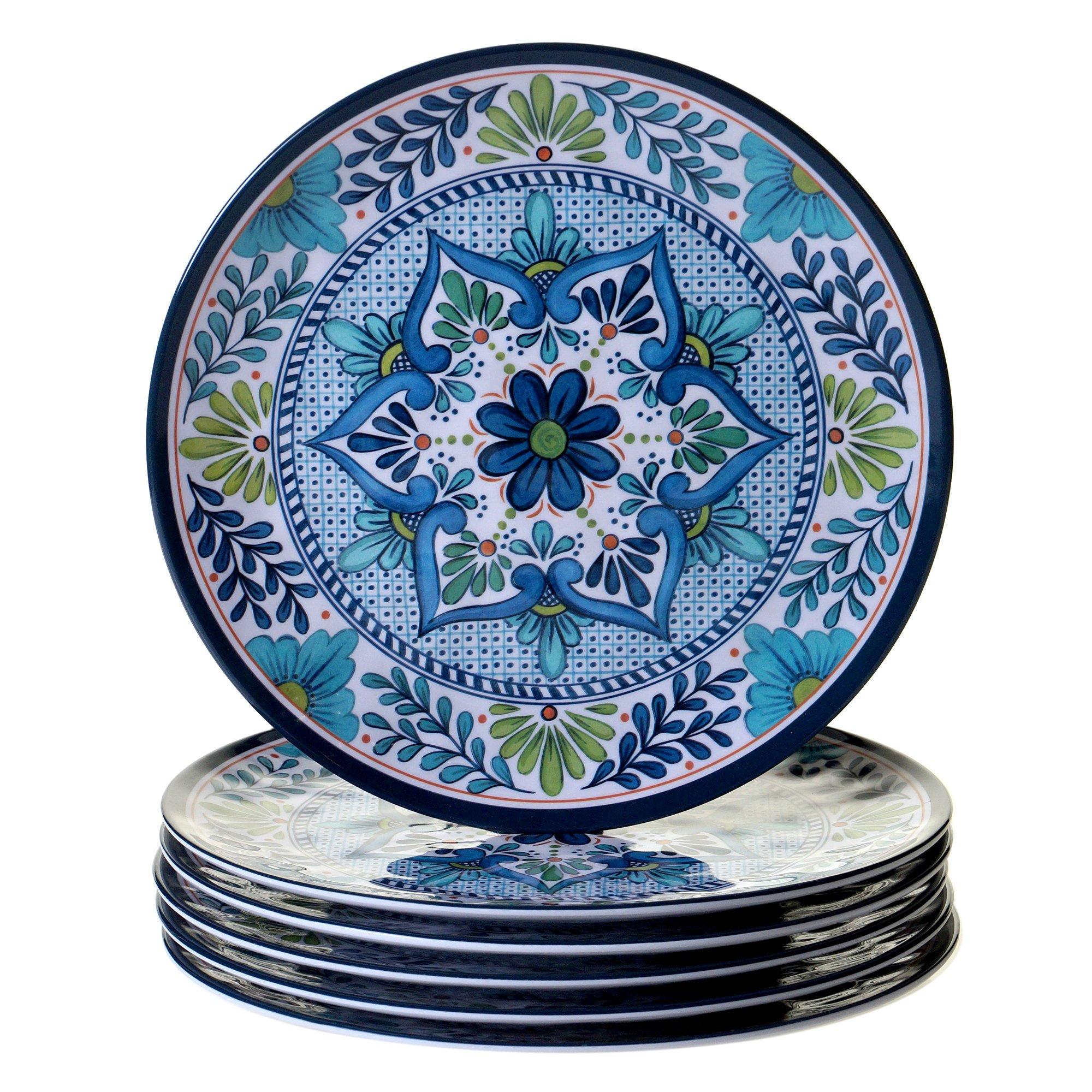 Certified International Talavera 11'' Dinner Plate (Set of 6), Multicolor