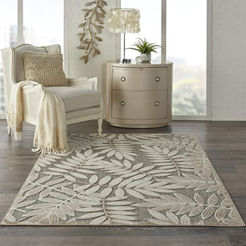 Nourison Aloha Indoor-Outdoor Nature-Inspired Natural 6 x 9 Area Rug , 6 x 9