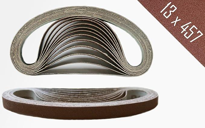 Lot de 48Bandes abrasives mélangées 13x 457mm–Grain je Lot de 840,60,80,120,180,240pour Black & Decker Power Lime
