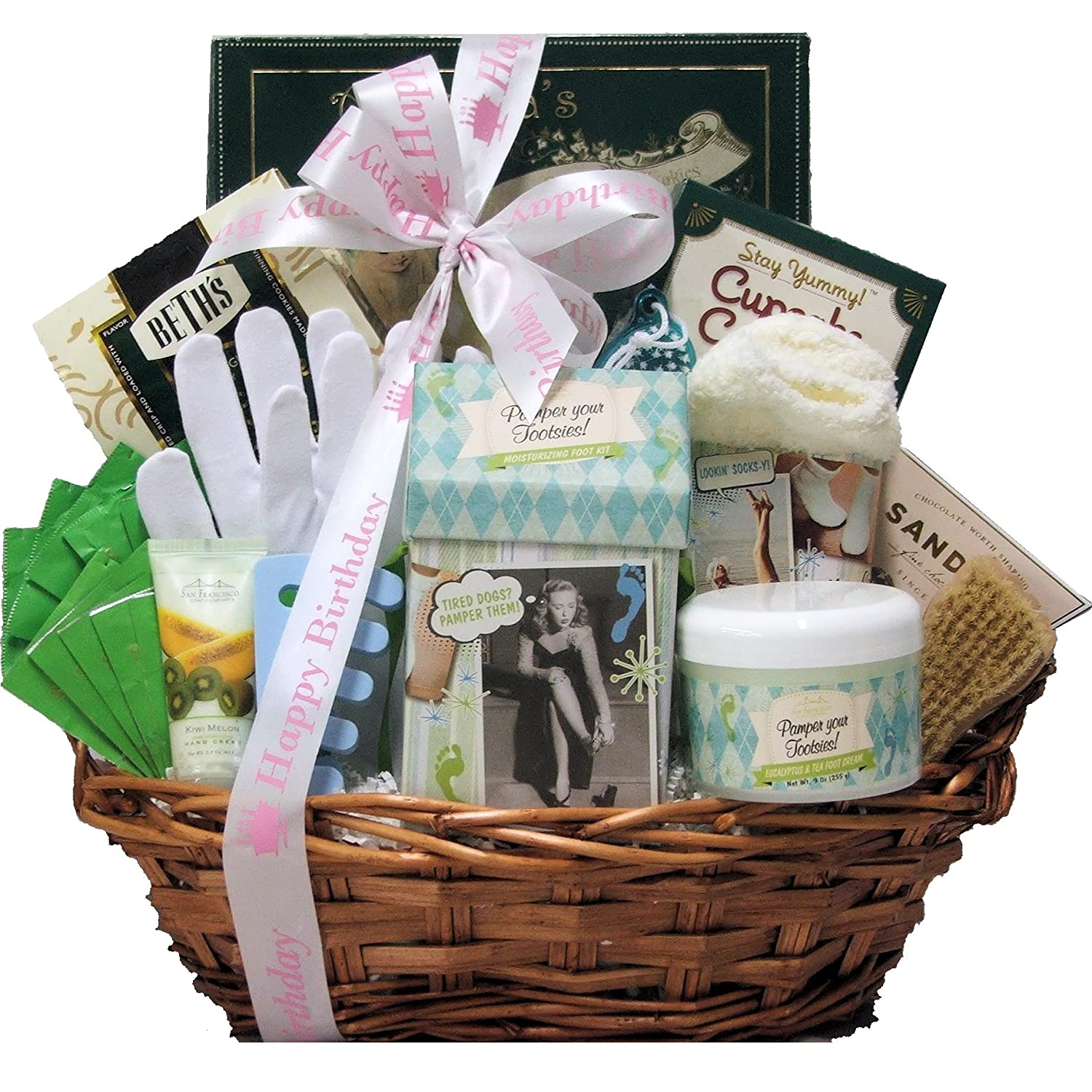 GreatArrivals Gift Baskets Hands And Feet Specialty Spa Birthday Bath Body Basket Amazon Grocery Gourmet Food