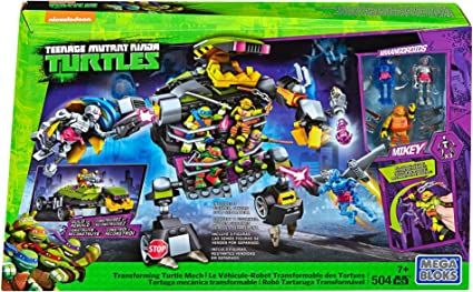Mega Bloks Teenage Mutant Ninja Turtles Transforming Turtle Mech Set