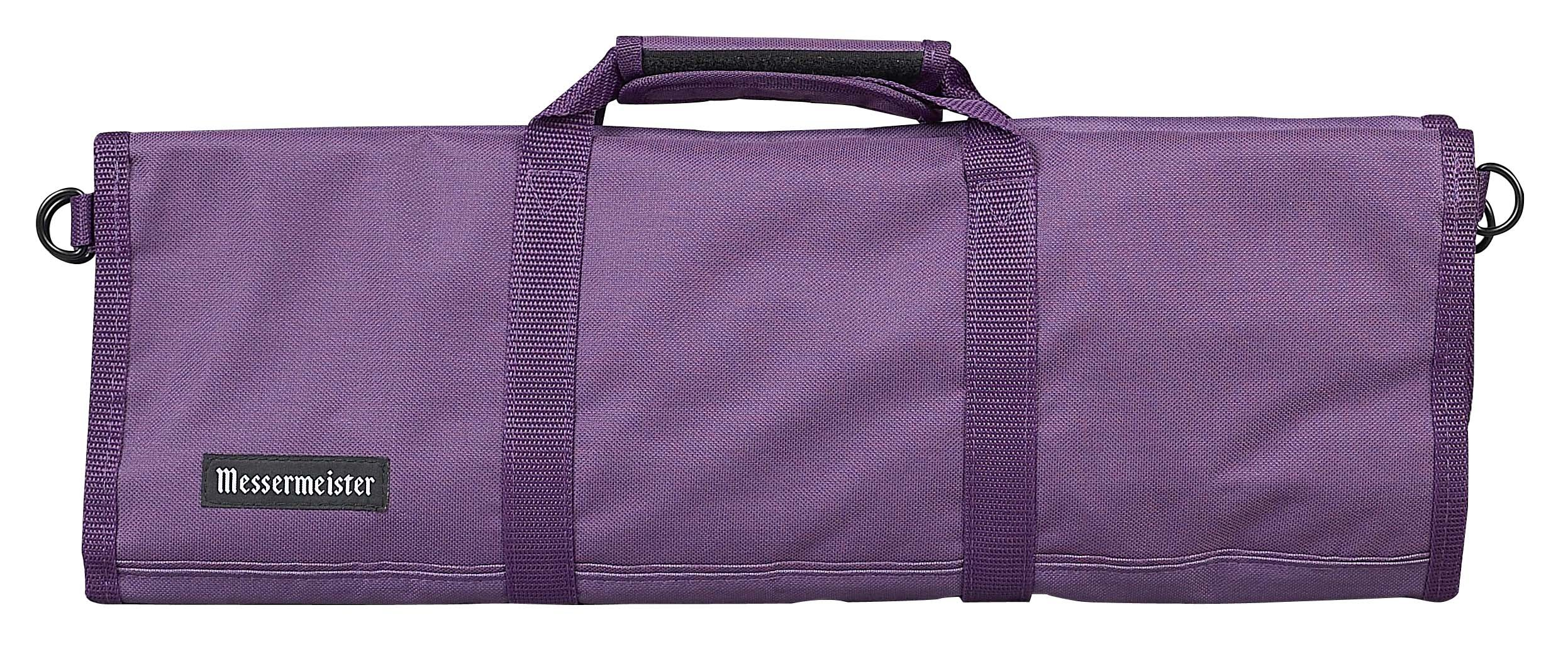Messermeister 12-Pocket Heavy Duty Nylon Padded Knife Roll, Luggage Grade and Water Resistant, Plum by Messermeister