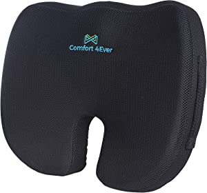 Memory Foam Seat Cushion - The Office Posture Corrector Back Pain Relief - Car Seat Office Desk Computer Chair Sciatica Pain Relief - Office Chair Booster Seat Ease Leg Hip Pain 2 Types of Covers