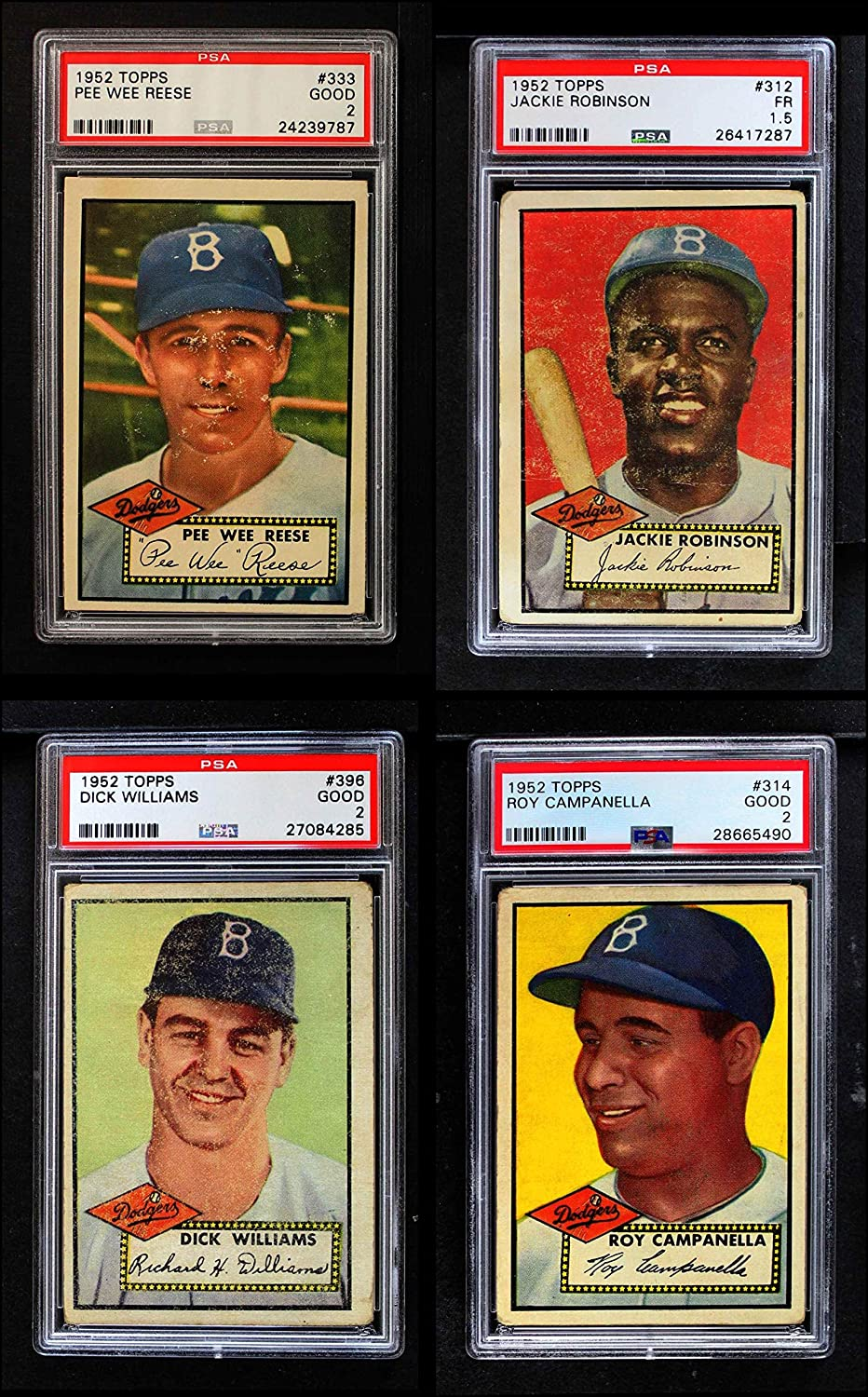 1952 Topps Brooklyn Dodgers Team Satz Brooklyn Dodgers (Baseball Set) Dean'S Cards 2 - gut Dodgers