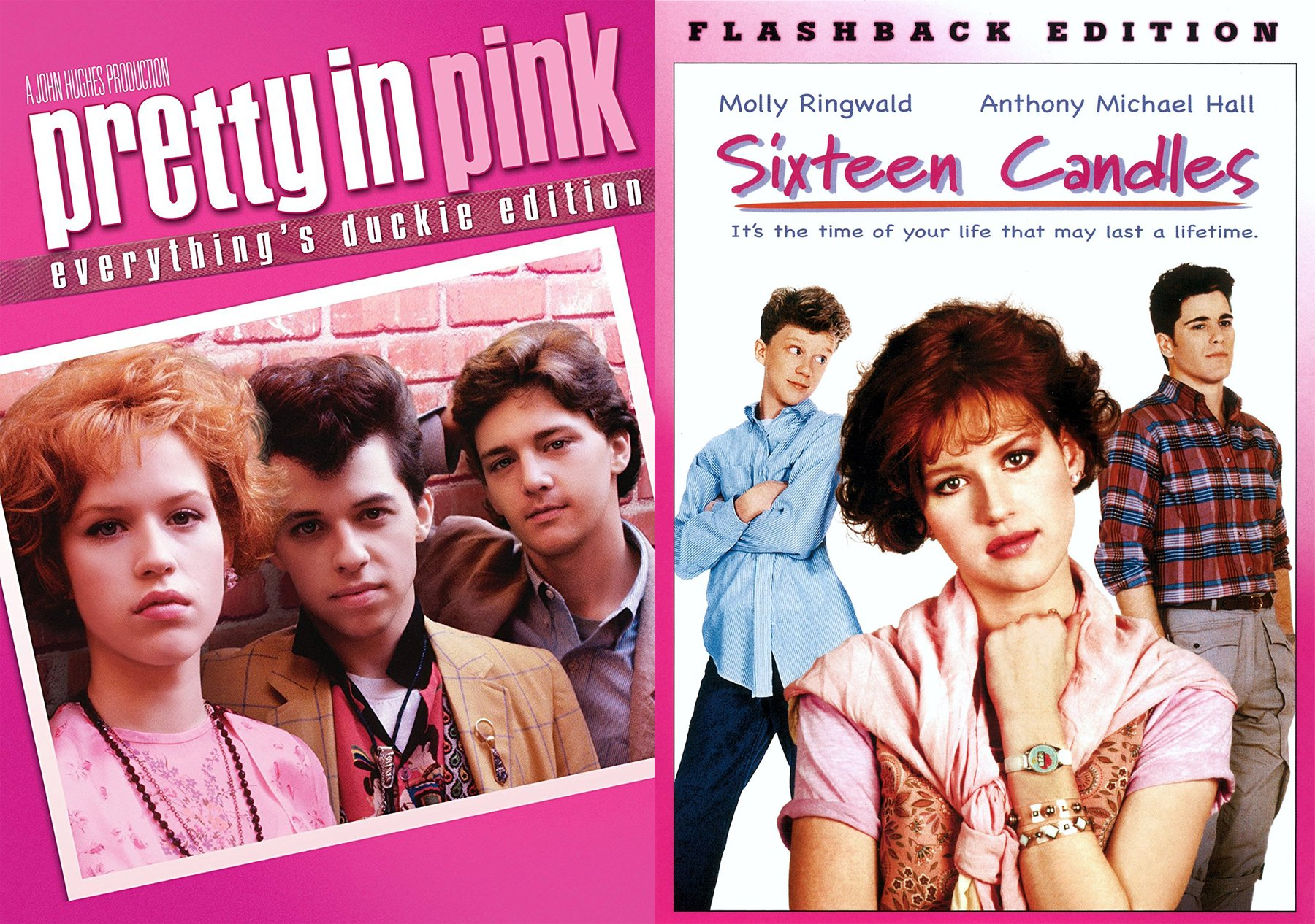 John Hughes Molly Ringwald 2-DVD Bundle - Sixteen Candles (Flashback Edition) & Pretty in Pink (Everything's Ducky Edition) by