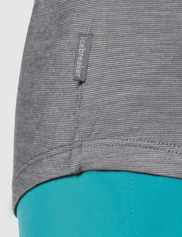 Icebreaker Women's Sphere Ss Scoop T-Shirt Panther/Snow/Stripe