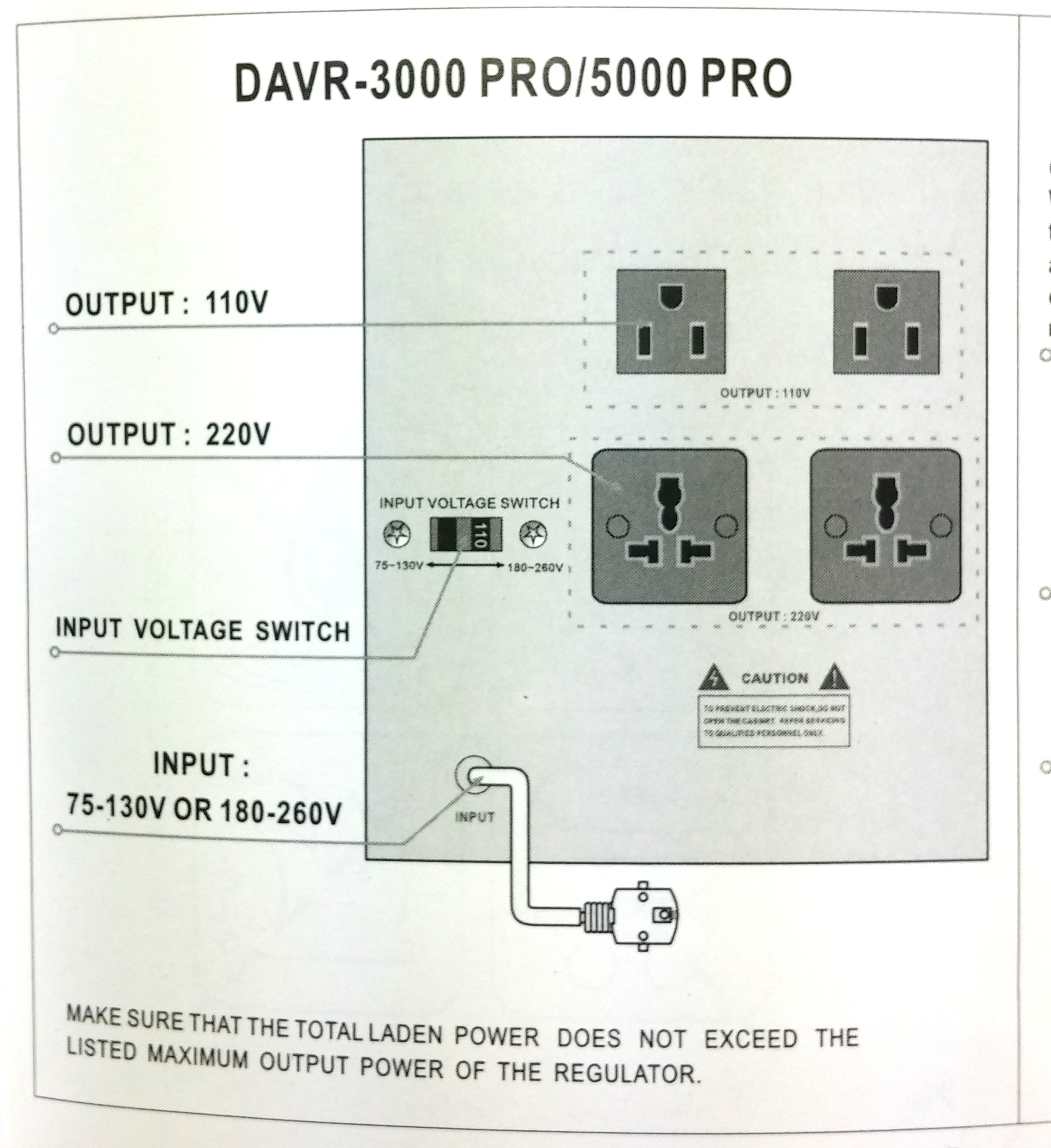Norstar DAVR-3000 3000 Watt 110/120 to 220/240 or 220/240 to 110/120 Step UP and Down Voltage Transformer and Automatic Voltage Regulator Stabilizer by Norstar (Image #2)