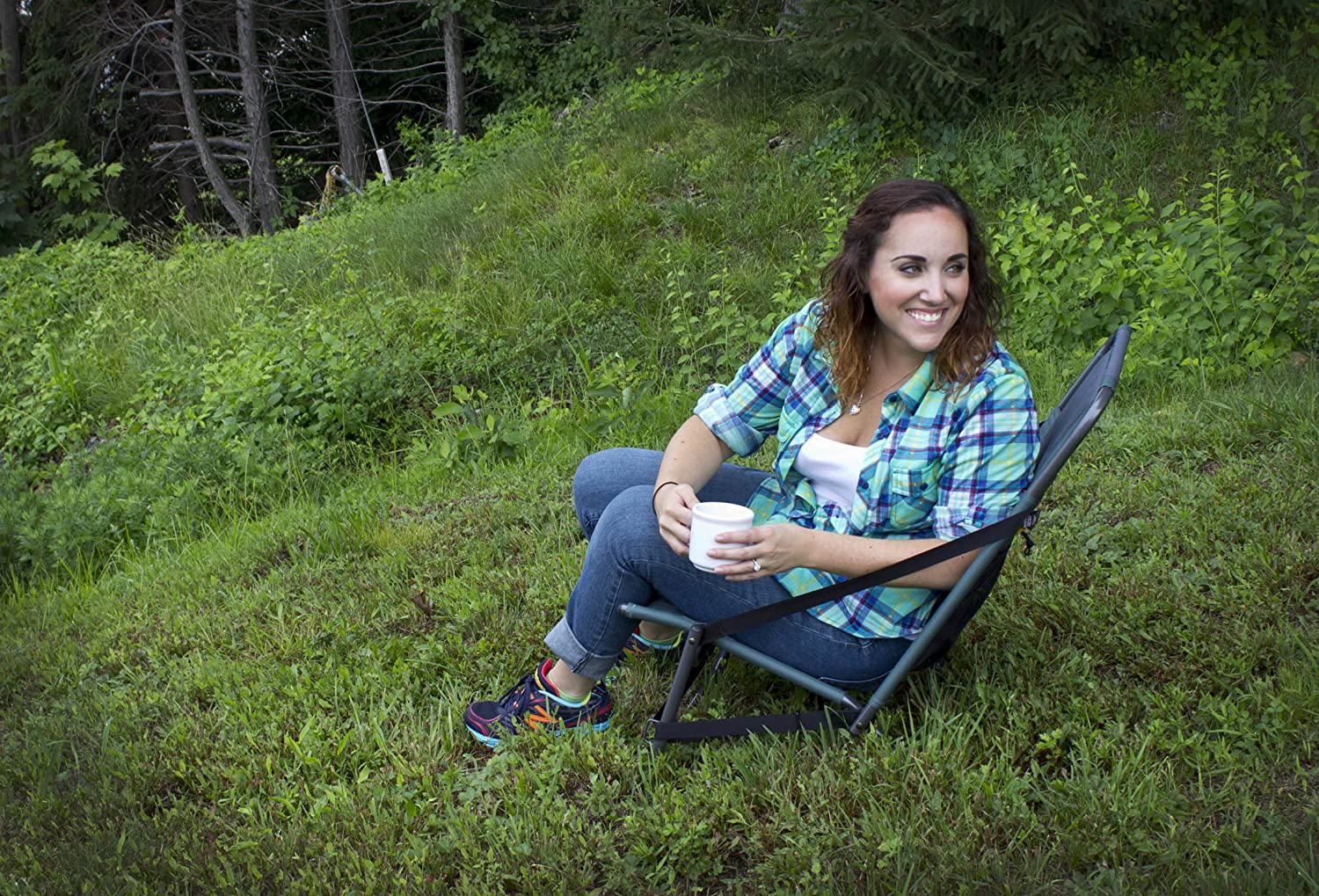 Marvelous Amazon.com : GCI Outdoor Everywhere Chair, Hunter : Camping Chairs : Sports  U0026 Outdoors