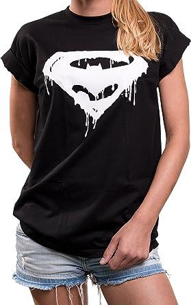 MAKAYA Oversize Top Superheroes Manga Corta Talla Grande - Frikis Super Bat - Camiseta Gym Deporte para Mujer: Amazon.es: Ropa y accesorios