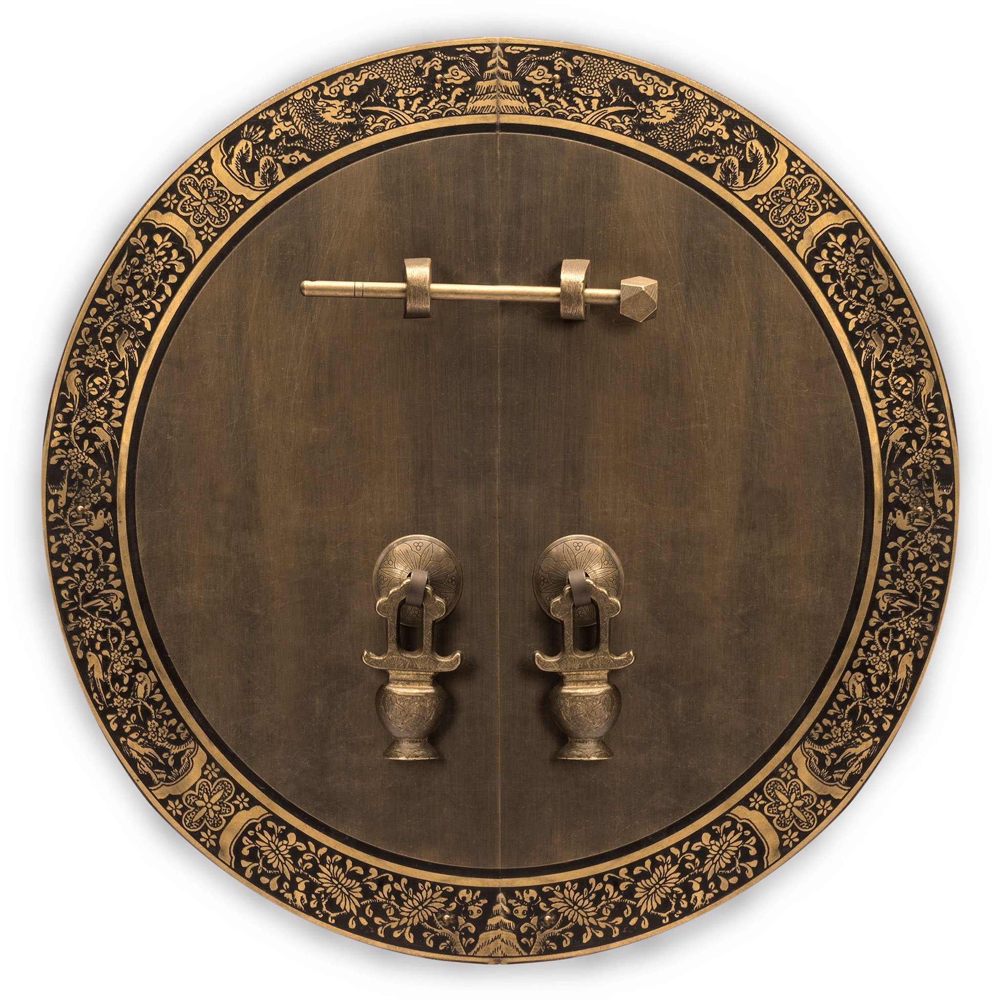 CBH Giant Banquet Brass Face Plate Backplate Hardware Set 13-3/4''