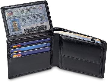 95cf255cee29b TRAVANDO ® Geldbörse Herren Berlin mit RFID Schutz Geldbeutel schwarz  Portemonnaie Portmonaise Geldtasche Brieftasche Hochformat Herrengeldbeutel