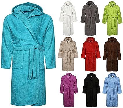 100% Egyptian Cotton Adults Hooded Bathrobe  4ddec5f61