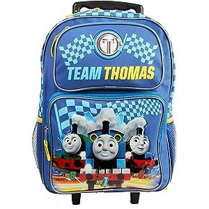 Amazon.com: Thomas The Train Wheeled Backpack - Kid Size Thomas ...