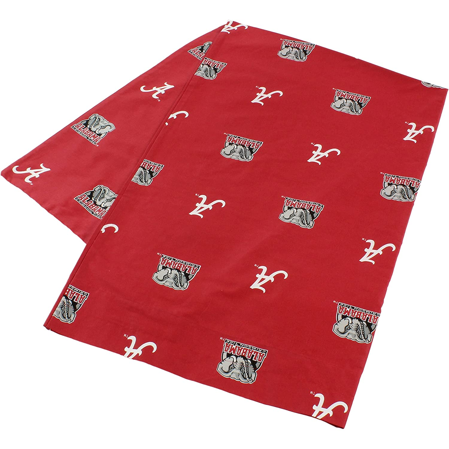 College Covers Alabama Crimson Tide Pillowcase Only-Body Pillow 20 x 60 Red