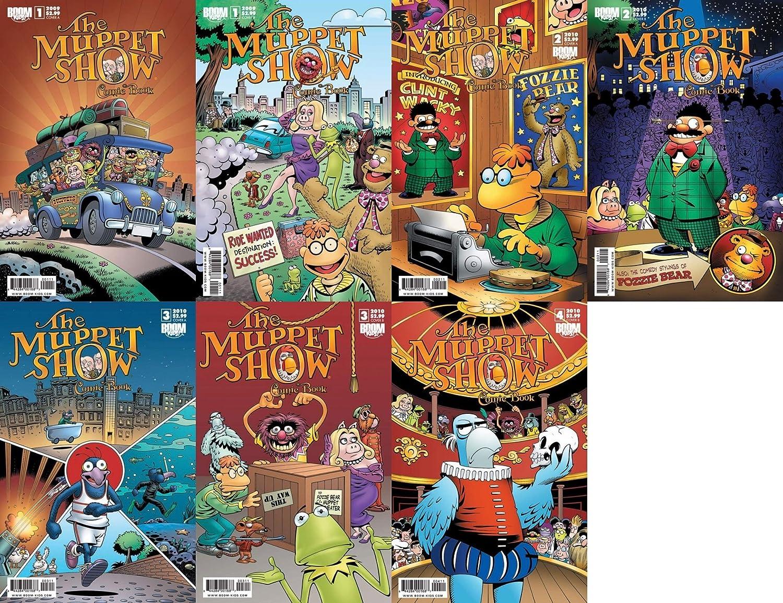 The Muppet Show Comic Book #1-4 (2009-2010) Limited Series Boom Comics - 7 Comics