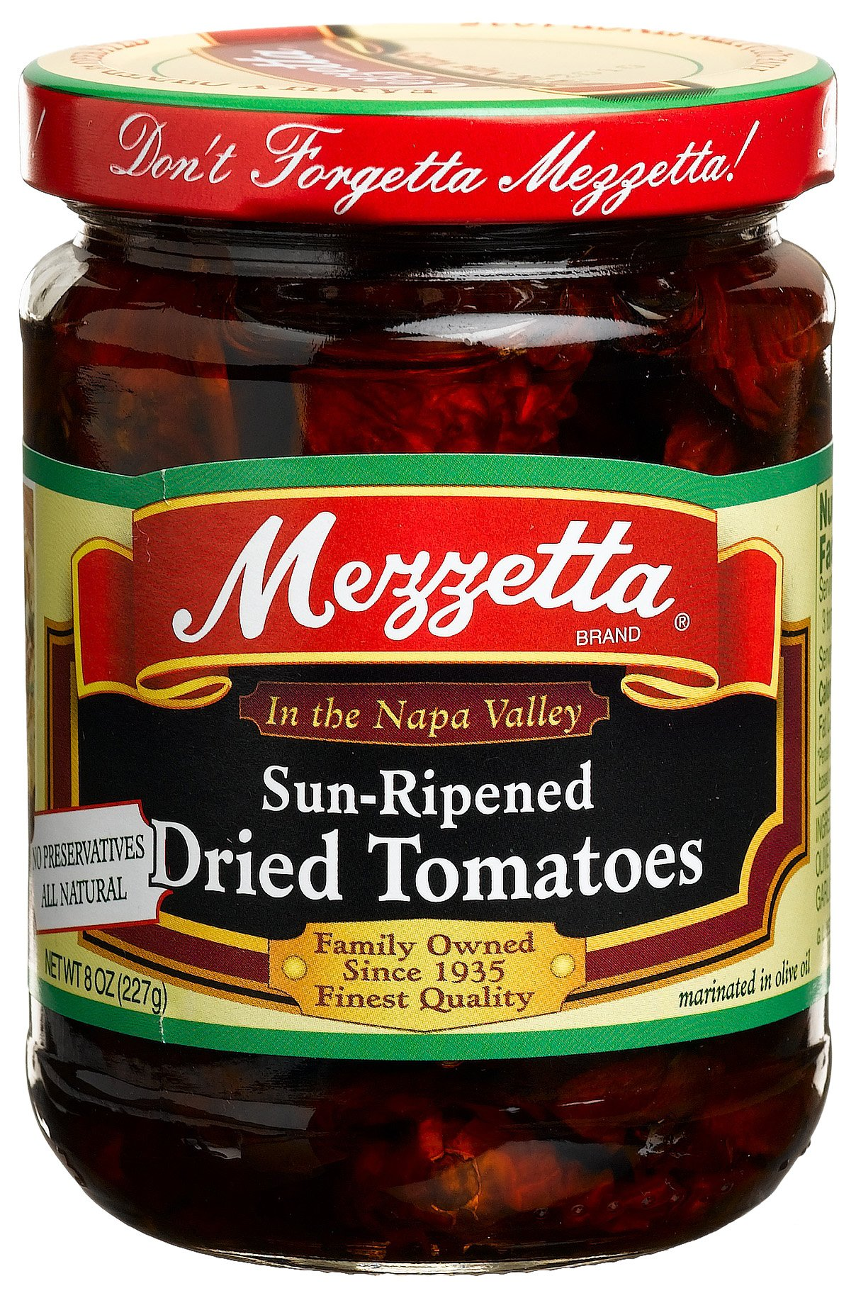 Mezzetta Sundried Tomatoes in Olive Oil, 8-Ounce Jars (Pack of 6)