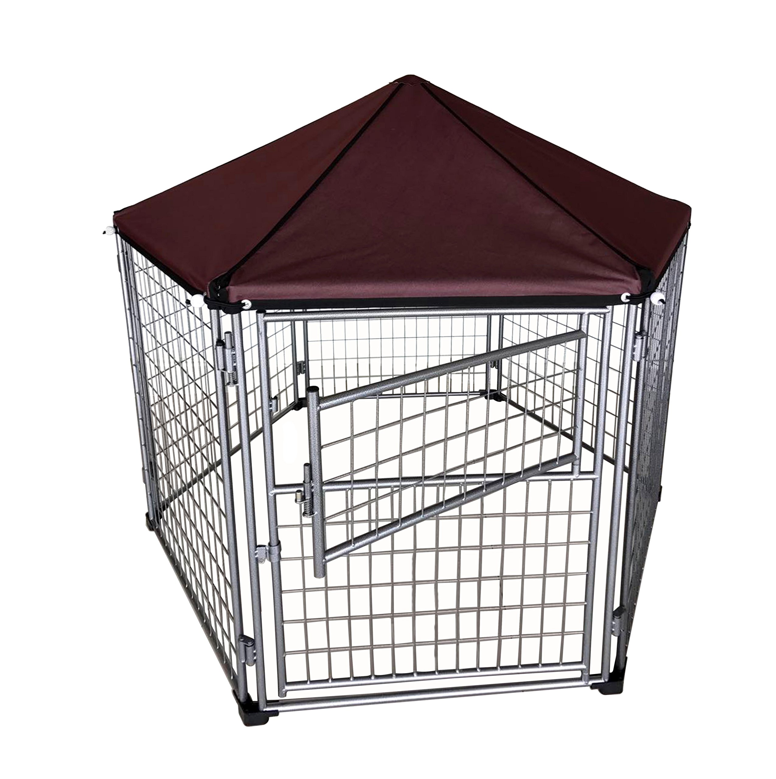 Neocraft My Pet Companion Outdoor Dog Kennel with Included Roof Weather Resistant Cover (5.5'), Waterproof Winter Welded Wire Pet House Shelter - Ideal for Any Dog Breed, Easy Assembly by Neocraft