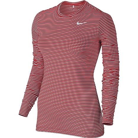 Nike Golf Crew – Camiseta Interior térmica para Mujer de la Mujer 2.0, Light Crimson