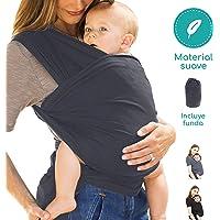 Tiernelle Fular para Bebe Elastico. Rebozo con múltiples amarrados y posiciones. Mantén a tu bebe siempre contigo de manera cómoda y segura. Tela suave, delgada y resistente para la máxima comodidad a tu bebe. (Gris)