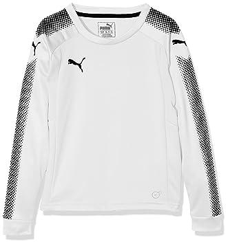Puma Gk Ls Shirt, Camiseta de Manga Larga para Niño , Blanco (puma white- puma black), 128: Amazon.es: Deportes y aire libre