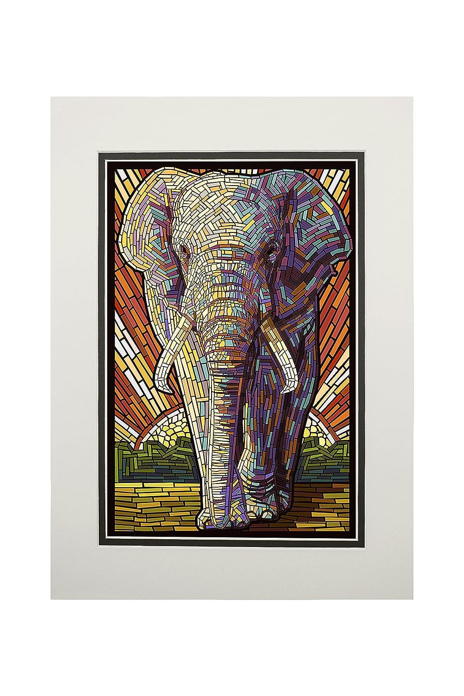 100%品質 アフリカ象 – 用紙モザイク 12 用紙モザイク x 11 18 Metal Print Sign LANT-42912-12x18M B06XZXX2KD 11 x 14 Matted Art Print 11 x 14 Matted Art Print, NeXT-Bike:df4cc123 --- 4x4.lt