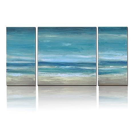 Abstract Beach Art Coastal Decor Beach Painting Giclee Print Sea Life Artwork