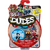 Tech Deck Dudes – 4-Pack Collectible Skater Figures with Boards (Styles and Colors May Vary)