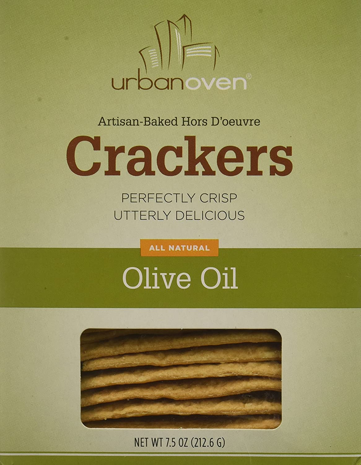 Urban Oven Olive Oil Crackers (Pack of 6)