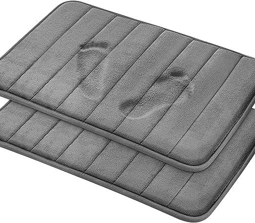 2 In 1 Bathroom Memory Foam Mat Toilet Rug Non-Slip Floor Carpet Kitchen MAT TO