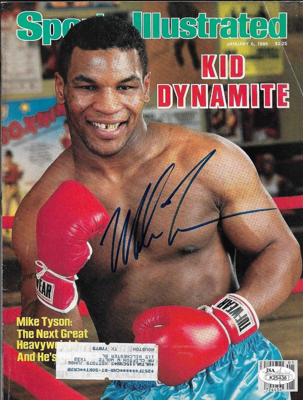 Mike Tyson Autographed Signed Sports Illustrated Magazine - JSA Authentic