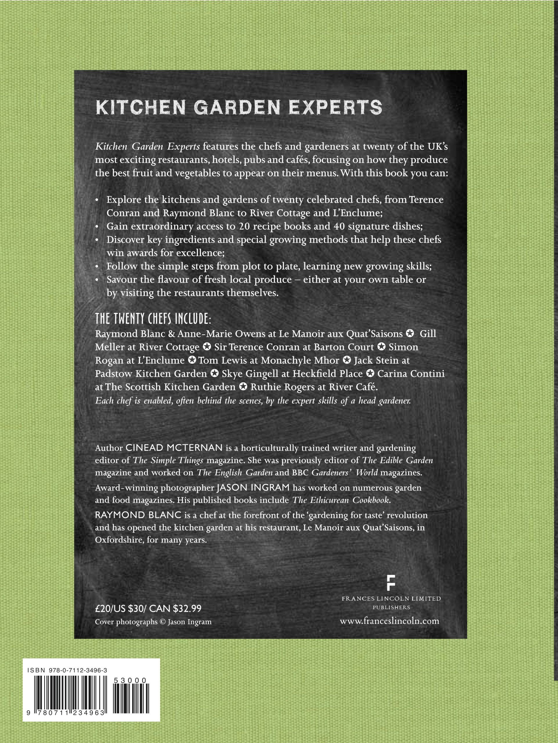 Kitchen Gardeners Kitchen Garden Experts Twenty Celebrated Chefs And Their Head