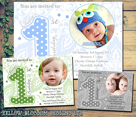 Personalised Childrens Birthday Invitations Printed Invites Boy Girl Joint Party Twins Unisex 1st Boys First Baby