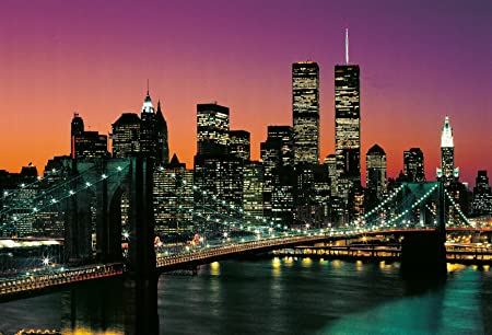 Photo Wallpaper Brooklyn Bridge Over The Hudson River New York Manhattan Sunset Apos8