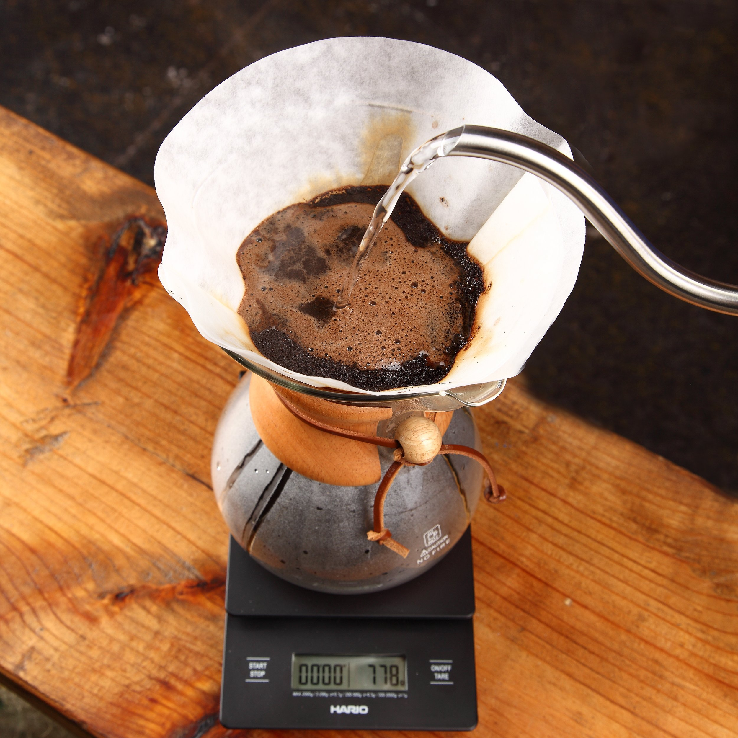 Pour Over Coffee Maker   Classic Hand Drip Brewer for Paper Filter   Hand Crafted Strong Borosilicate Glass with Lid, Easy Clean and Better Coffee by LePrem (Image #4)