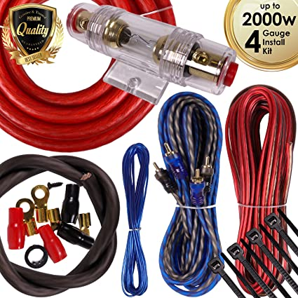 amazon com complete 2000w gravity 4 gauge amplifier installation rh amazon com car amp wiring kit halfords car amp wiring kit india