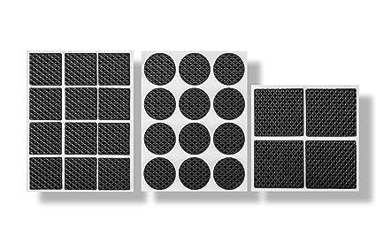 RAM PRO 28Pc Anti Skid U0026 Scratch Rubber Furniture Protection Pads Kit U0026 Self