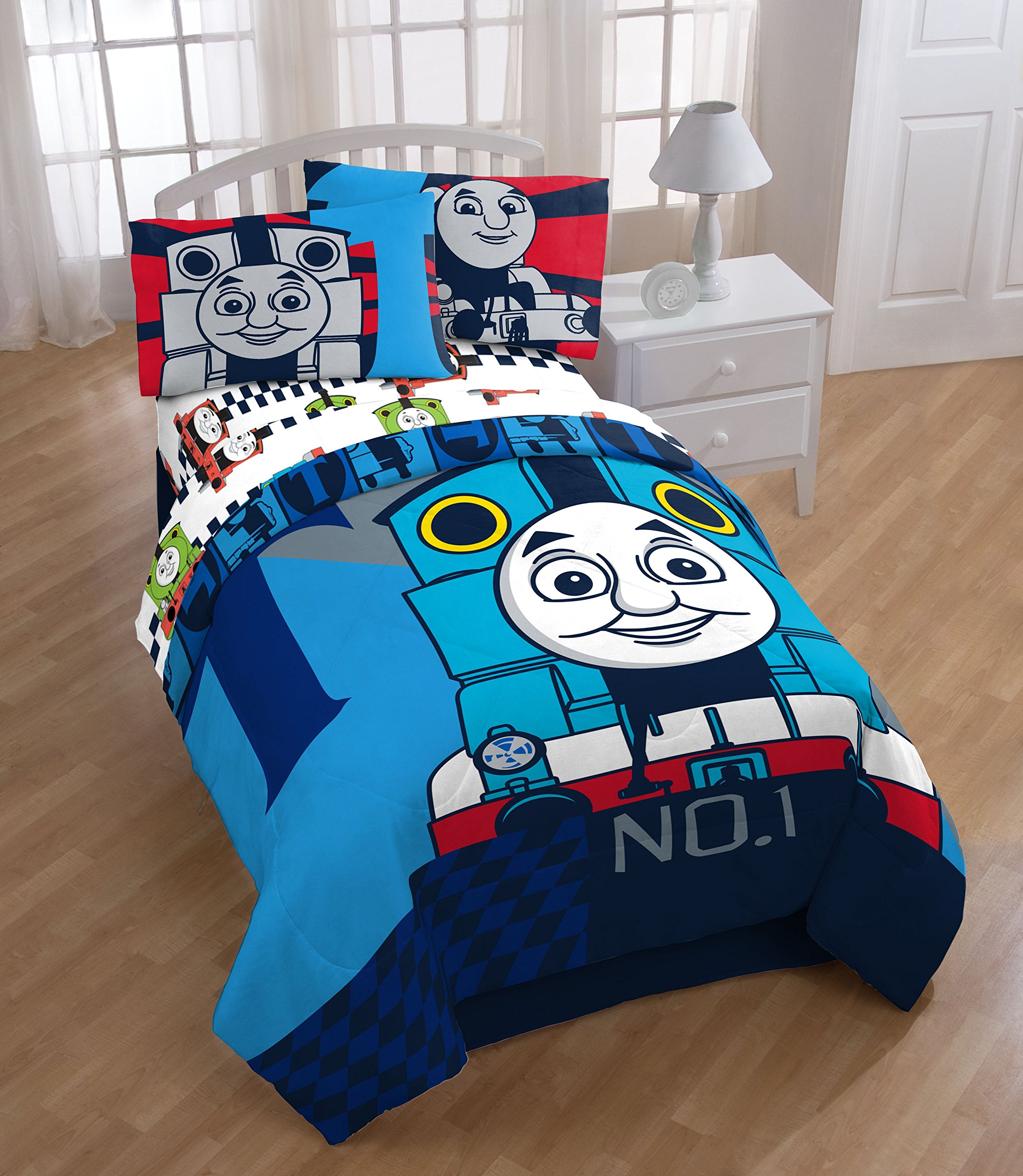 Thomas The Tank Engine Colorblock Twin/Full Reversible Comforter