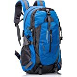 UBORSE Hiking Backpack 40L, Lightweight Water Resistant Travel Daypack Trekking Bag for Outdoor Camping, Travel, Hiking and Mountaineering, Blue