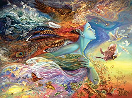 Buffalo Games Josephine Wall - Spirit of Flight - Glitter Edition - 1000 Piece Jigsaw Puzzle